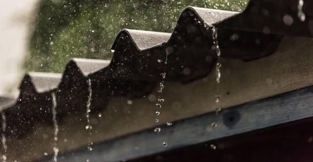 Raining on metal roof