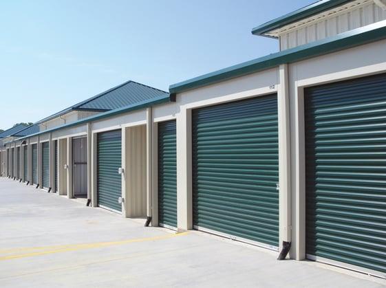 green storage doors