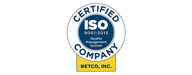 BETCO Earns ISO Certification