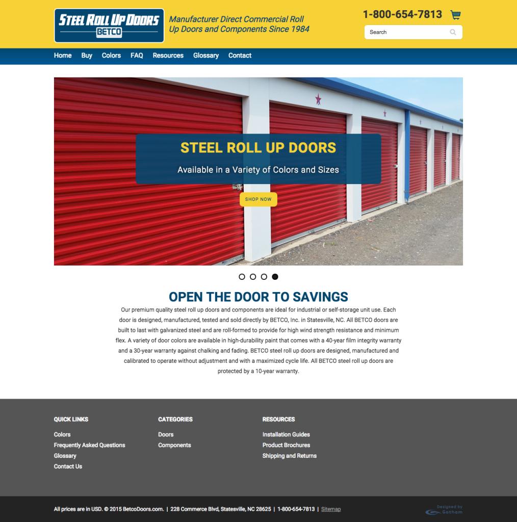 BETCO Inc. Launches New Steel Roll Up Doors Website