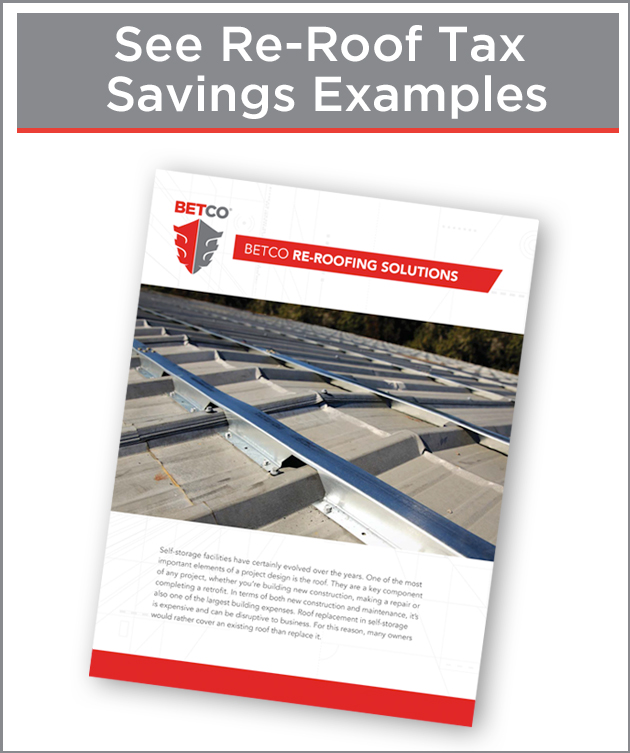 Re-roof and tax savings brochure