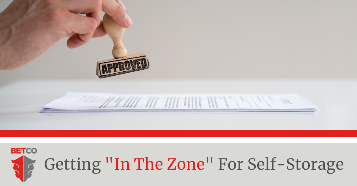 Getting In The Zone for Self-Storage